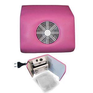 Витяжка для манікюру Nail Dust Collector вентилятор + 3 мішечка , Фіолетовий