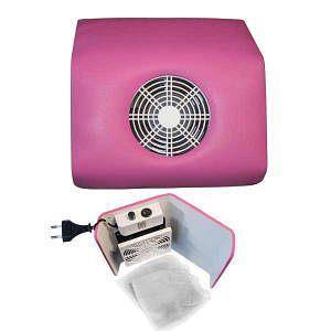 Вытяжка для маникюра Nail Dust Collector вентилятор + 3 мешочка , Фиолетовый