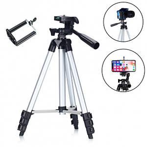 Телескопічний Штатив для камери і телефону трипод TRIPOD 3120