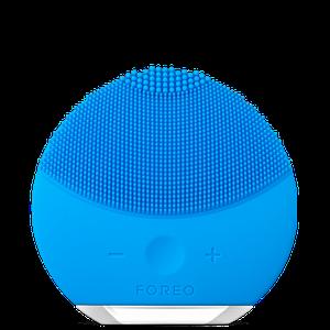 Силіконова акумуляторна щітка масажер для чищення особи FOREVER LINA mini Блакитна (заряд від USB)
