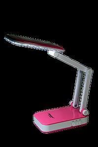 Светодиодная LED лампа трансформер на аккумуляторе KAMISAFE KM6668+ Бело-розовая