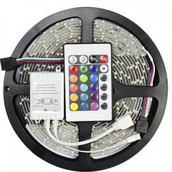 Світлодіодна стрічка вологозахищена RGB з пультом управління 5 метрів UKC 3528