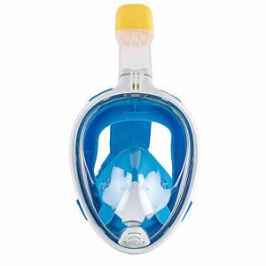 Полнолицевая панорамная маска для плаванья снорклинга FREE BREATH ORIGINAL (S/M) с креплением для экшн камеры
