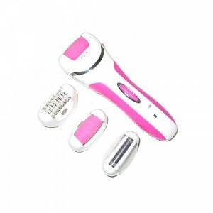 Епілятор жіночий Shinon для видалення волосся 4 в 1 з бритвеної насадкою 16.5 см Pink (SH7656)
