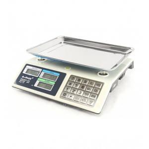 Торгові електронні ваги А-ПЛЮС акумуляторні з металевими кнопками до 50 кг Білі