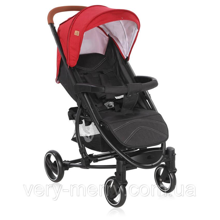Прогулянкова коляска Lorelli S-300 (чорний/червоний колір)
