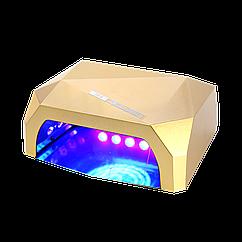Гибридная светодиодная LED лампа для ногтей и маникюра CRYSTAL 002 +CCFL 36 Вт сушилка для наращивания с