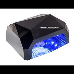 Гибридная светодиодная LED лампа для ногтей и маникюра CRYSTAL 006 +CCFL 36 Вт сушилка для наращивания с