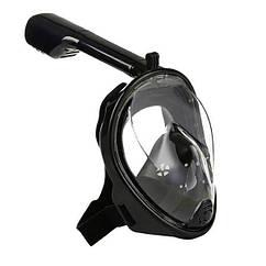 Повна панорамна маска для плавання снорклінга FREE BREATH ORIGINAL (S/M) з кріпленням для екшн камери
