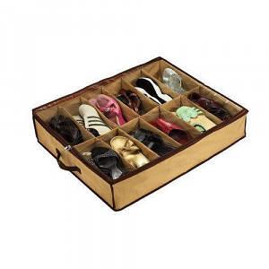 Органайзер обувной коробка для хранения обуви Shoes Under на 12 пар с прозрачной крышкой на замке
