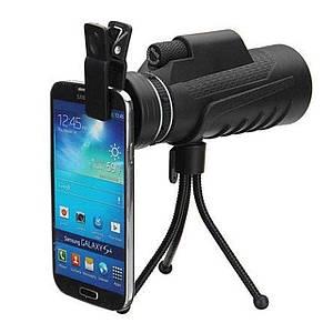 Монокуляр бинокль PANDA 40x60 PRO с ночным видением с креплением прищепкой для телефона и подставкой