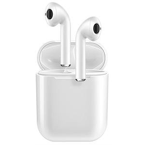 Бездротові Bluetooth-навушники вкладиші з кейсом в комплекті HBQ i9s TWS PRO Double з чохлом і карабіном