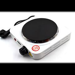 Электроплита WimpeX дисковая на одну конфорку 1000Вт Белая (100-A)