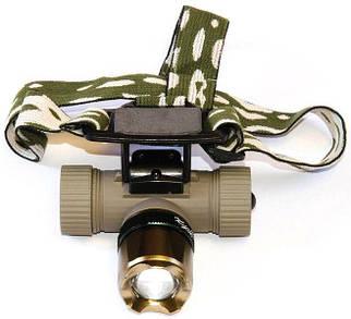 Ліхтар налобний світлодіодний з фокусуванням акумуляторний (18650) Police BL-6866 Original з ЗУМОМ діод T-6
