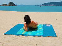 Подстилка покрывало на море против песка - антипесок 2x2 метра Sand Free пляжный коврик