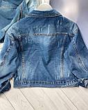 Стильная джинсовая куртка женская, фото 2