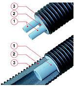 Трубы Flexalen 600 VS-RH125A2/25 (двухтрубная система для отопления, 2-е трубы х 25/20,40мм. в кожухе 125мм.)
