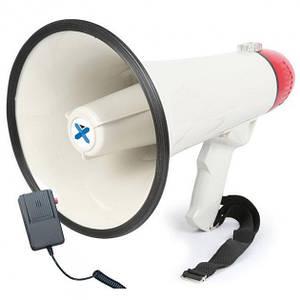 Мегафон рупор гучномовець Yaochen акумуляторний Original з функцією запису і виносної рацією Білий (HW-20B)