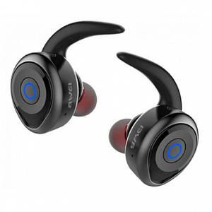 Бездротові Bluetooth стерео, вакуумні спортивні навушники Awei Original Plus з мікрофоном Чорні (T1)