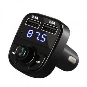 Автомобільний ФМ Bluetooth модулятор FM трансмітер для авто в машину X8 Original 2xUSB