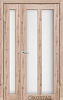 Полуторные межкомнатные двери Torino 4 Korfad Дуб тобакко