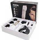 Бездротова акумуляторна машинка для стрижки волосся голови, бороди тример ROZIA PRO HQ-2201, фото 2