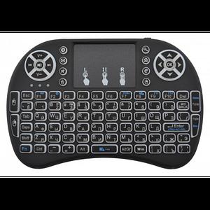 Аккумуляторная беспроводная клавиатура с тачпадом для SmartTV телевизора UKC Mini i8 RUS подсветкой с русскими