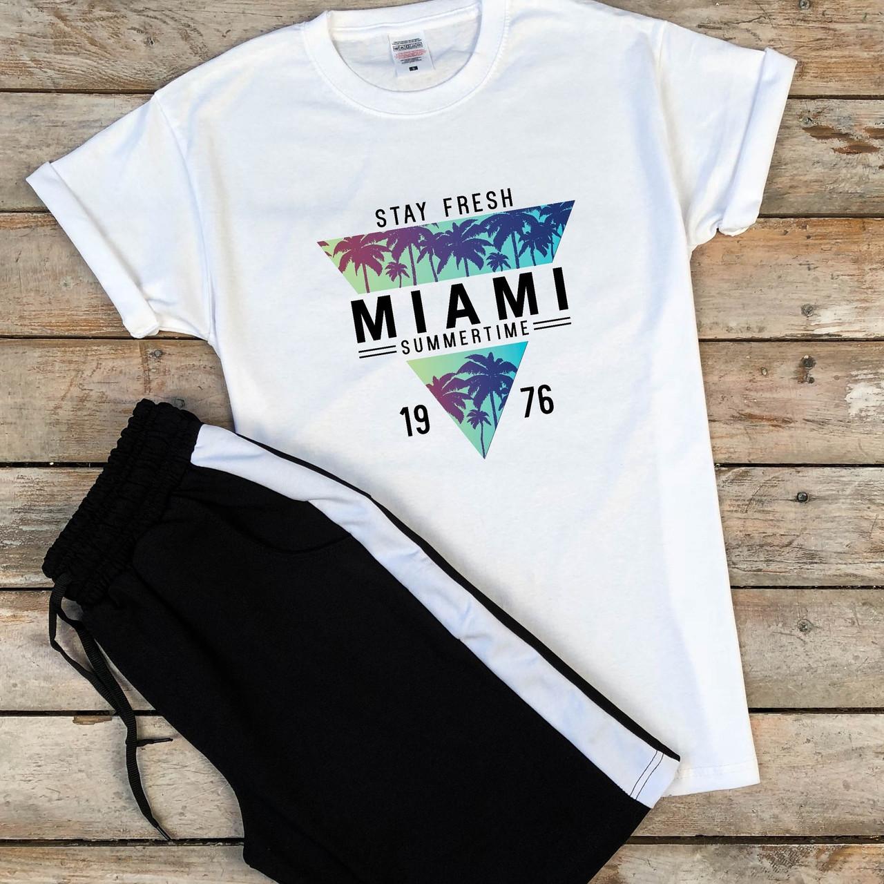 Мужской спортивный костюм футболка, шорты