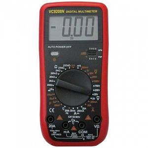 Професійний мультиметр ТРМ VC9208N + термопара чорний (45159)