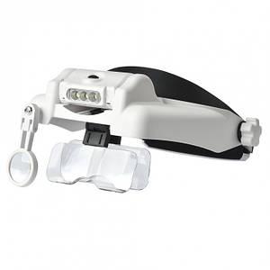 Очки бинокулярные со светодиодной подсветкой ТРМ MG82000MC белый (46299)