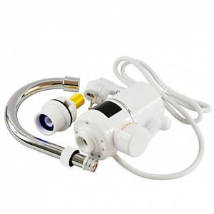 Вертикальный водонагреватель проточный на кран c LCD дисплеем UKC RX-005 белый (45951)