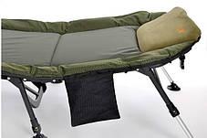 Розкладушка-ліжко коропова для риболовлі Elektrostatyk, посилена рама, фото 2