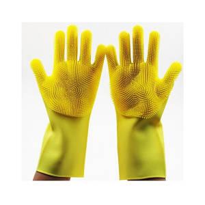 Перчатки для мытья ТРМ Super Gloves желтый (46500)