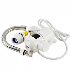 Вертикальний водонагрівач проточний на кран з LCD дисплеєм UKC RX-005 білий (45951)