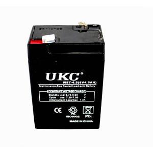 Аккумулятор UKC RB 640 6V 4A чёрный (45074)