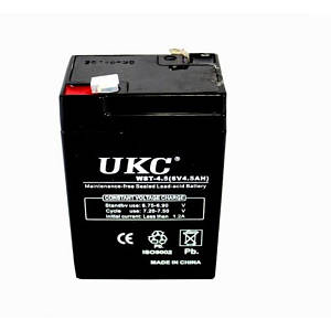 Акумулятор UKC RB 640 6V 4A чорний (45074)