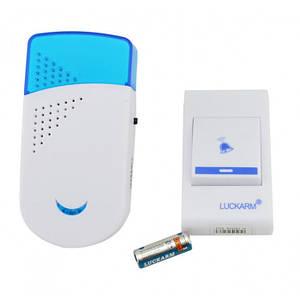 Беспроводной дверной звонок от розетки 220V Luckarm Intelligent A8603 синий (46171)