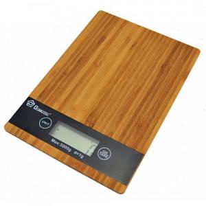 Электронные кухонные деревянные весы на 5 кг Domotec MS-A (IM 45674)