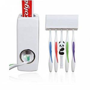 Автоматический дозатор зубной пасты DIS-Touch, Диспенсер для зубной пасты с держатель зубных щеток (IM 46621)