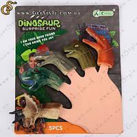 """Ляльки на пальці Динозаври - """"Dinosaur"""" - 5 шт, фото 1"""