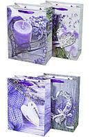 """Пакет подарочный DV-BK-5292S """"Цветы"""", 18х24х8.5см 4вида 210г/м2 уп12"""