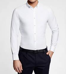Рубашки мужские приталенные однотонные
