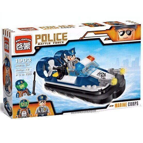 """Конструктор BRICK Enlighten 1903  """"Морская полиция"""" Lego City Лего"""