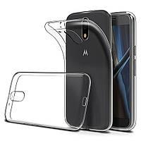 Силиконовый прозрачный тонкий чехол для Motorola Moto G4 Plus (XT1642)
