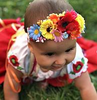 Детская повязочка веночек для девочки до полтора года
