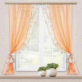 """Комплект штор """"Хейди"""" оранжевая, кухонные"""