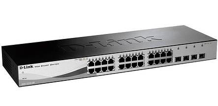 Комутатор D-Link DGS-1210-28 28port Gbit, 4SFP, Smart, фото 2