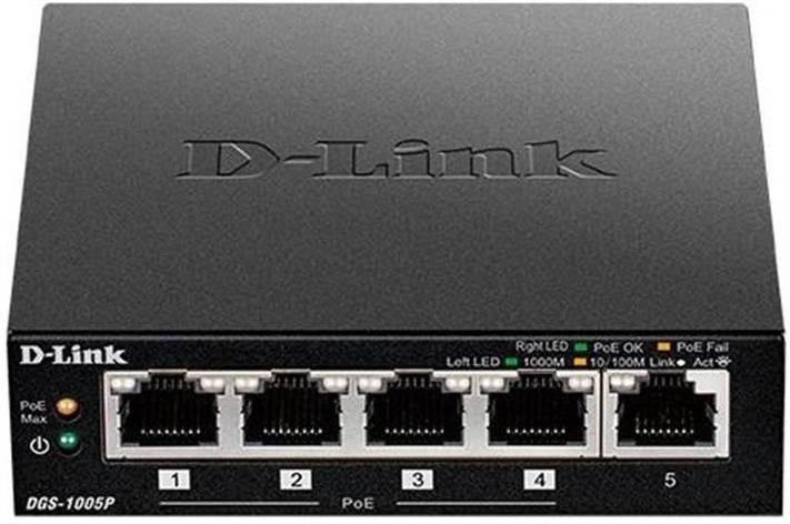 Комутатор D-Link DES-1005P (4xPoE, 1xUplink), фото 2