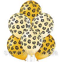 """Латексные воздушные шарики """"Пятна леопарда"""" пастель 12"""" 10шт/уп Belbal"""