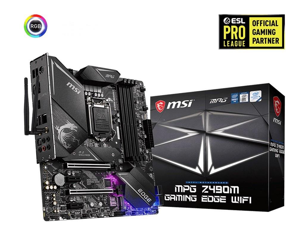 Материнська плата MSI MPG Z490M Gaming Edge, WiFi Socket 1200